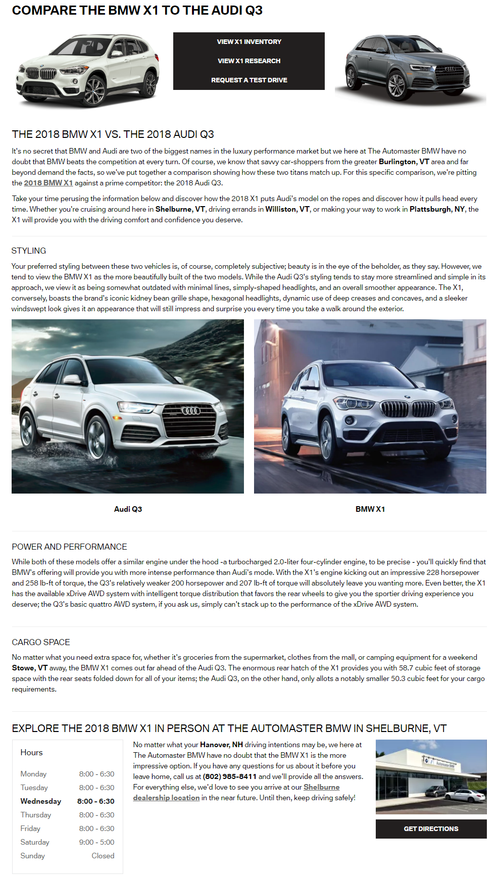The Automaster Bmw 2018 X1 Vs Audi Q3 Comparison Cameron Glenn Bock
